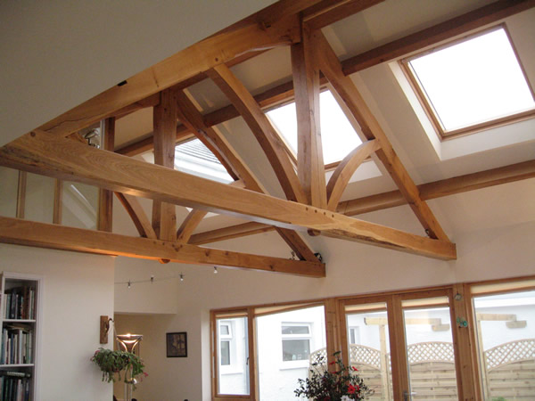 Clarke cunningham furniture and ballytrim sawmills for Exposed trusses cost